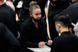 Becky Hammon becomes the first woman to run the NBA team as head coach in a regular season match