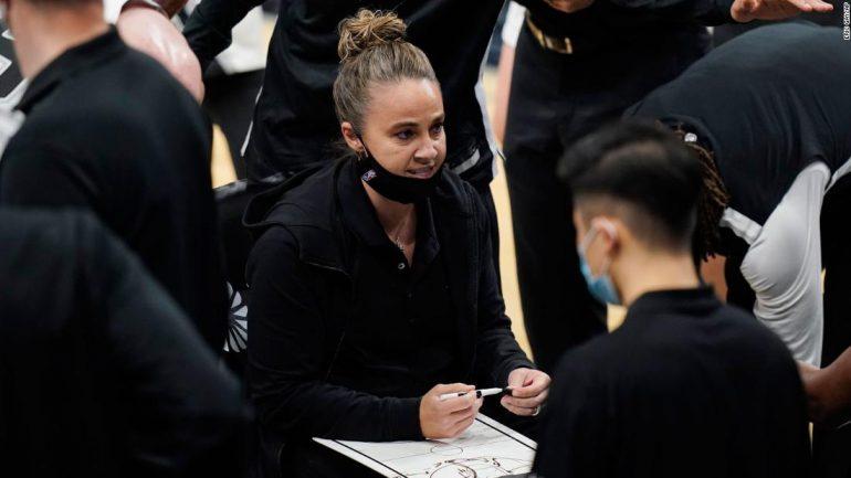 Becky Hammon becomes the first woman to run the NBA team as head coach in a regular season match