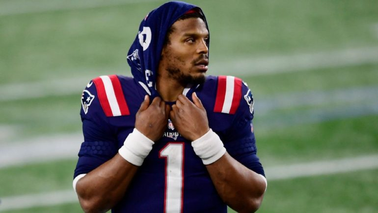 Cam Newton from New England Patriots after losing the blast