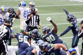 The Seattle Seahawks clinch the NFC West title with a superb 20-9 win over the Los Angeles Rams
