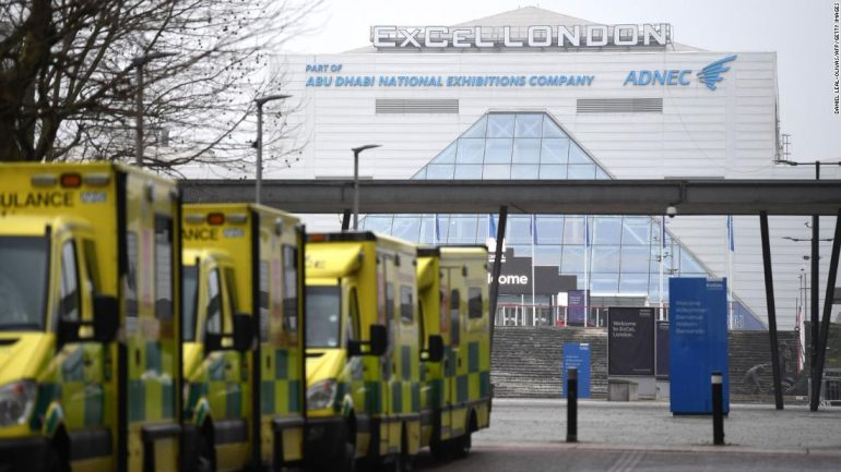 """UK Covid-19 emergency hospitals have requested to be """"ready"""" to accept patients"""