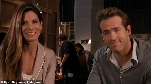 Leading Lady: appears with superstar Sandra Bullock, 56, at the beginning of the clip, as they film a behind-the-scenes clip, which White interrupts.