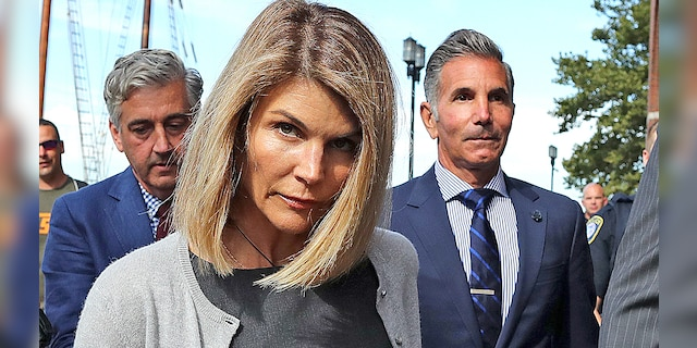 Lori Loughlin and her husband Mossimo Giannulli leave John Joseph Moakley Court, USA, in Boston, on August 27, 2019. Giannulli, 57, is currently serving a five-month prison sentence in Lombok, California.