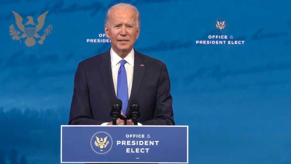 Dow Jones index jumps, tech stocks rise to record highs as Congress approves Biden victory