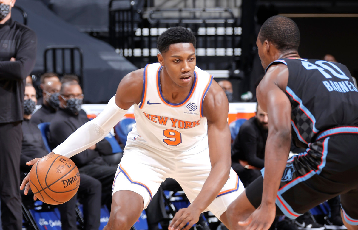 Knicks' RJ Barrett continues to thrive
