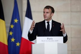 Macron calls Biden to greater US military participation