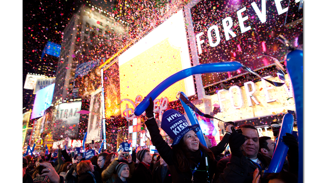 New Years Eve in Times Square is greeted in 2021 without a crowd