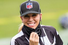 Sarah Thomas will become the first woman to referee a Super Bowl next month