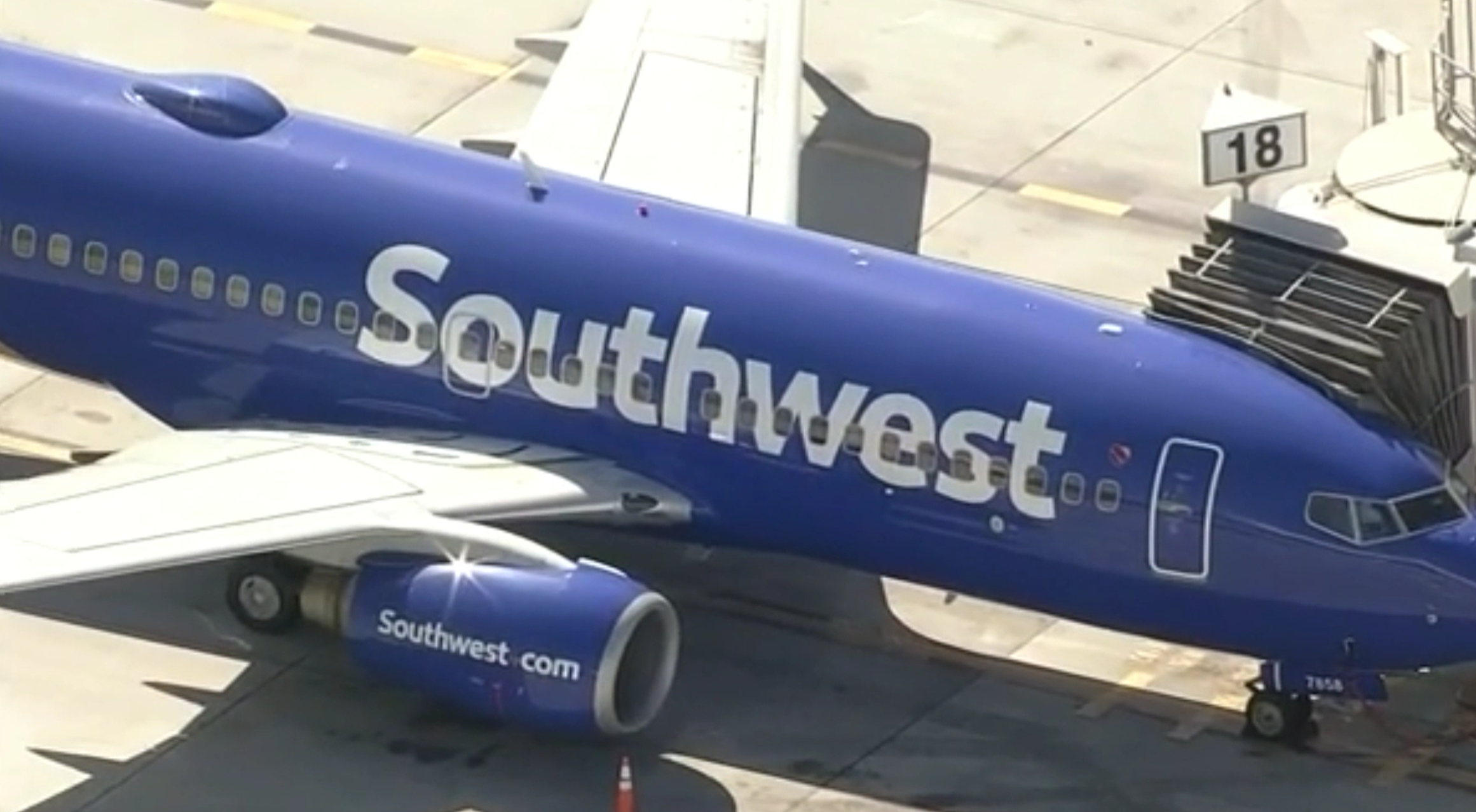 Southwest Airlines advertises its daily flight destinations from Santa Barbara, including Vegas