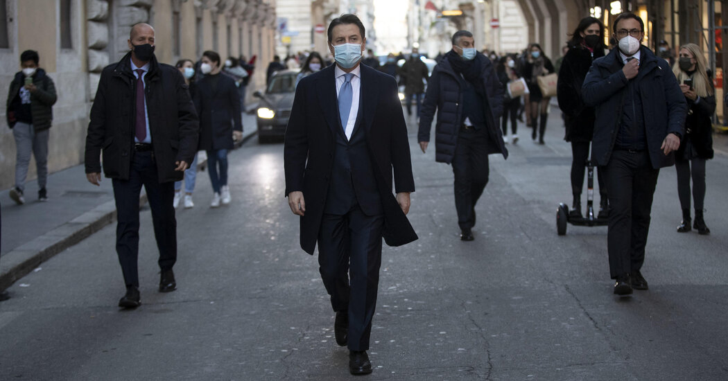 The Italian government is entering a crisis amid the spread of the epidemic