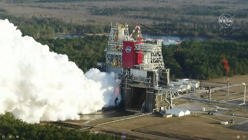 The Moon rocket test by NASA on Saturday did not go as planned |  Void
