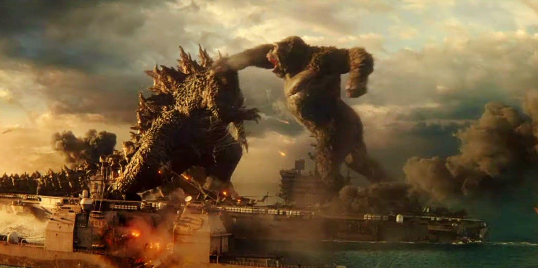 The footage shows Godzilla vs Kong the Monkey punching Gojira